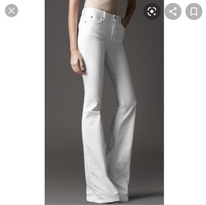 Burberry London White Flare Silton Jeans size 31